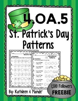 {FREEBIE} 4.OA.5 St. Patrick's Day Patterns