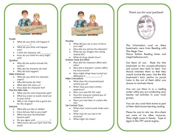# 4 Pirates Past Noon Comprehension Bookmarks - Magic Tree House Series