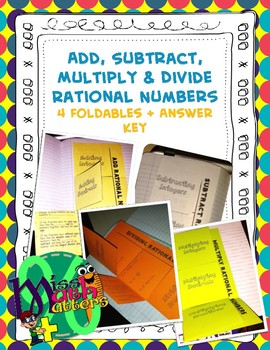 All Rational Number Operations | 4-Pack of Foldables [BUNDLE]