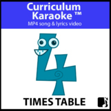'4 TIMES TABLE' ~ Read, Sing & Learn Song Video l Distance