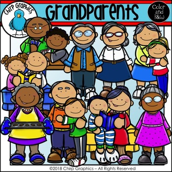 Grandparents Clip Art Set - Chirp Graphics