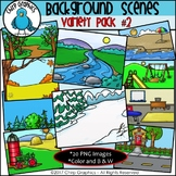 Background Scenes Clip Art Variety Pack #2 - Chirp Graphics