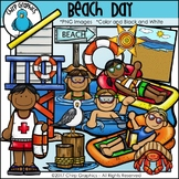 Beach Day Clip Art Set - Chirp Graphics