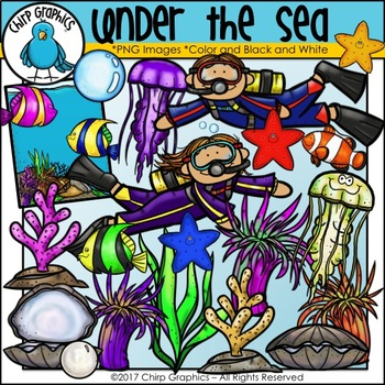 Under the Sea Clip Art Set - Chirp Graphics