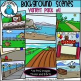 Background Scenes Clip Art Variety Pack #4 - Chirp Graphics