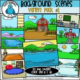 Background Scenes Clip Art Variety Pack #1 - Chirp Graphics