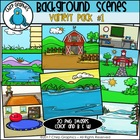 Background Scenes Clip Art Variety Pack  - Chirp Graphics