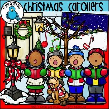 christmas carollers clip art set chirp graphics - Christmas Carollers