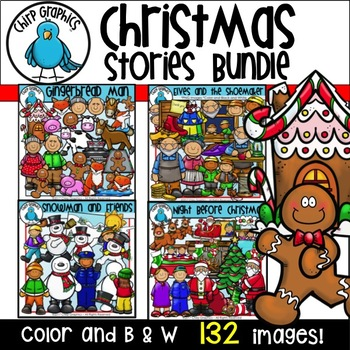Christmas Stories Clip Art Bundle  - Chirp Graphics