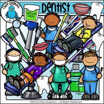 Dentist Clip Art Set - Chirp Graphics