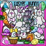 Easter Bunny Clip Art Set - Chirp Graphics