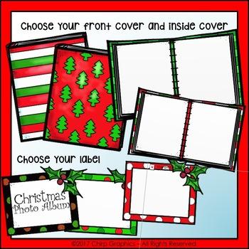 Make a Christmas Photo Album Clip Art Set - Chirp Graphics