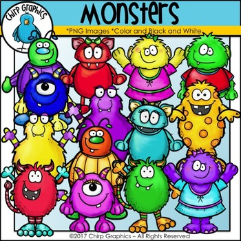 Monster Clip Art Set - Chirp Graphics