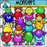 Monster Clip Art Set - Chirp Graphics