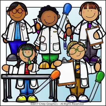 Science Kids Clip Art Set - Chirp Graphics