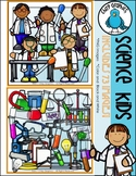 Science Kids Clip Art Set - Chirp Graphics