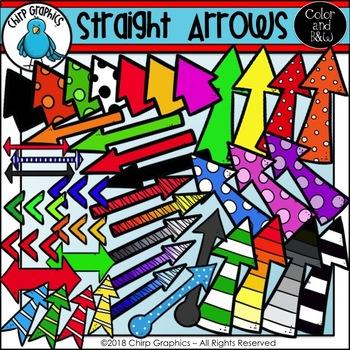 Straight Arrows Clip Art Set - Chirp Graphics