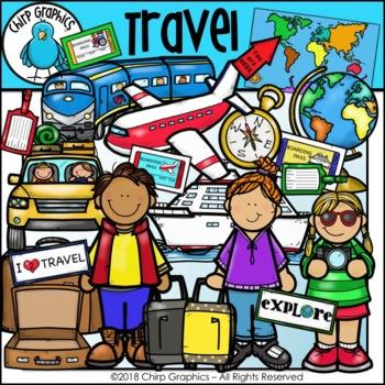 Travel Clip Art Set - Chirp Graphics