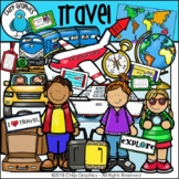 Travel Clip Art Set - Chirp Graphics