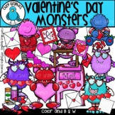 Valentine's Day Monsters Clip Art Set - Chirp Graphics