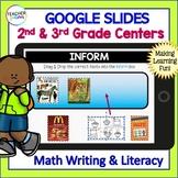 Google Classroom Activities | 2nd grade | 3rd grade | READING & MATH Bundle