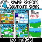 Simple Seasons Backgrounds Clip Art Bundle