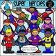 Super Hero Clip Art Bundle - Chirp Graphics