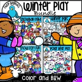 Winter Play Clip Art Bundle - Chirp Graphics