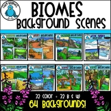 Biomes Background Scenes Clip Art Bundle - Chirp Graphics