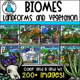 Biomes Landforms and Vegetation Clip Art Bundle - Chirp Graphics