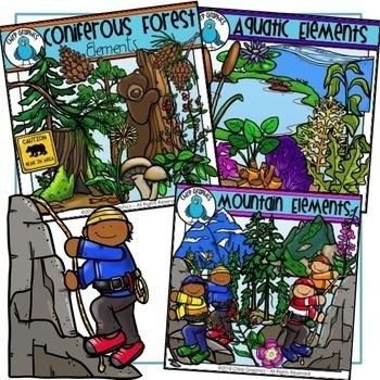 Biomes Landforms and Vegetation Clip Art Bundle - Chirp Graphics