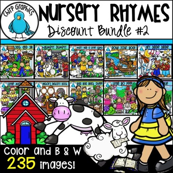 Nursery Rhyme Clip Art Bundle 2 - Chirp Graphics
