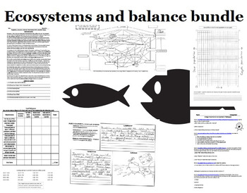 (45% off retail) Food web, biodiversity, and ecosystem GROWING Bundle!