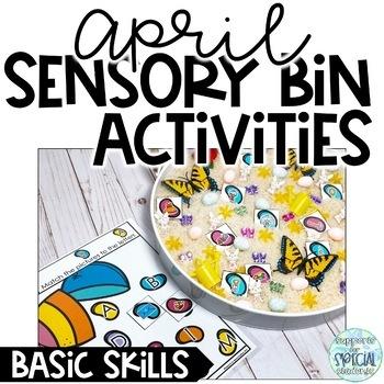 April Sensory Bin Activities - Basic Skills