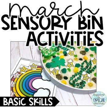 March Sensory Bin Activities - Basic Skills