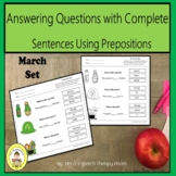 Prepositions in Speech Therapy with March Themes