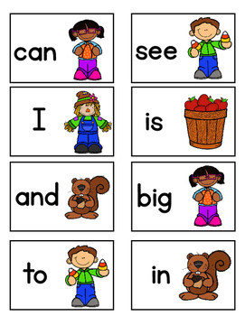 Fall Fun Sight Words