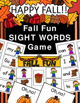 Fall Fun Sight Words
