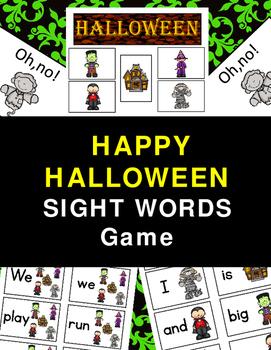 Halloween Fun Sight Words