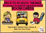 Back to School Theme Pronouns & Present Progressive Verbs