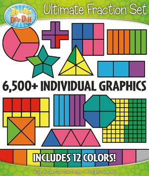 {48HR FLASH DEAL} Ultimate Multicolor Fractions Clipart Bundle – 6500+ Graphics