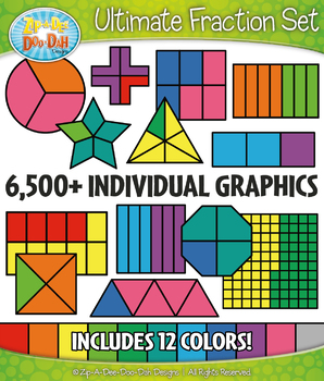 Ultimate Multicolor Fractions Clipart Bundle – 6500+ Graphics