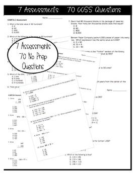 4NBT Math Assessments - Includes 60 Questions!