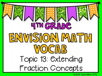 (4th Grade) Envision Math Vocabulary Posters: Topic 13