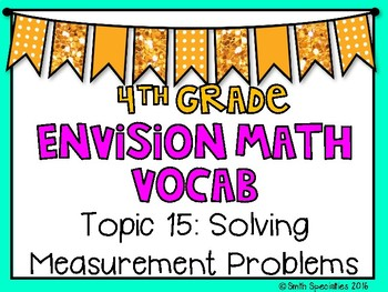 (4th Grade) Envision Math Vocabulary Posters: Topic 15