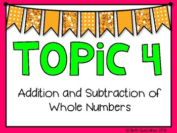 (4th Grade) Envision Math Vocabulary Posters: Topic 4