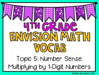 (4th Grade) Envision Math Vocabulary Posters: Topic 5