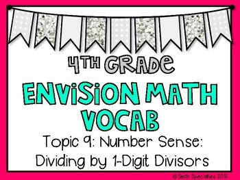 (4th Grade) Envision Math Vocabulary Posters: Topic 9
