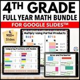 *4th Grade Google Classroom Math Activities Bundle   Dista