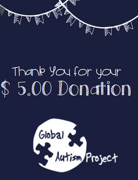 $5.00 Donation to the Global Autism Project